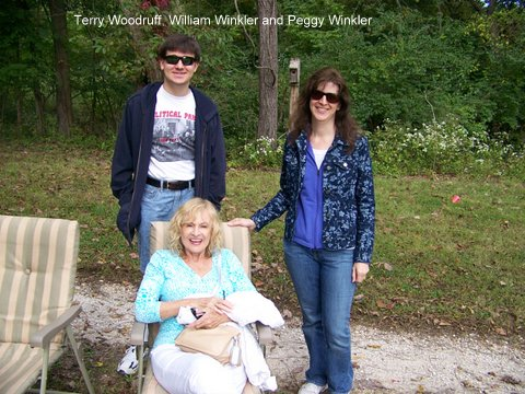 Terry Woodruff, William Winkler and Peggy Winkler