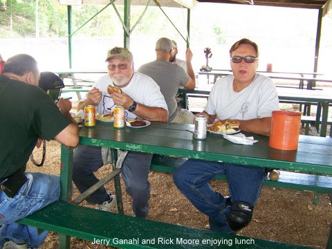 Jerry Ganahl and Rick Moore enjoying lunch