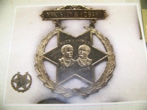 1896 Mckinley political badge by Sam Allard
