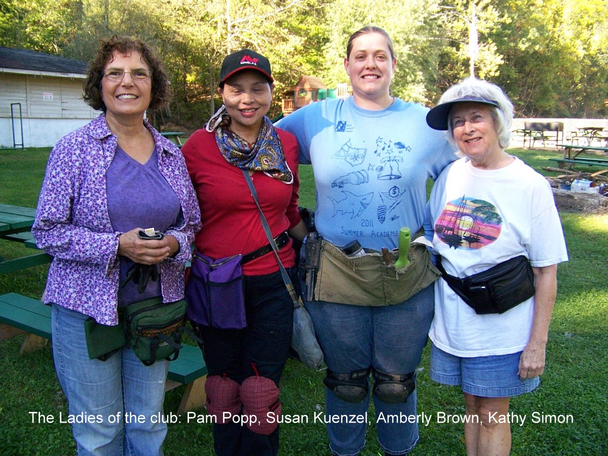 The Ladies of the club: Pam Popp, Susan Kuenzel, Amberly Brown, Kathy Simon